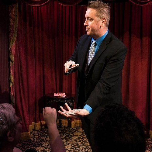 Jeff Ezell Performing Magic